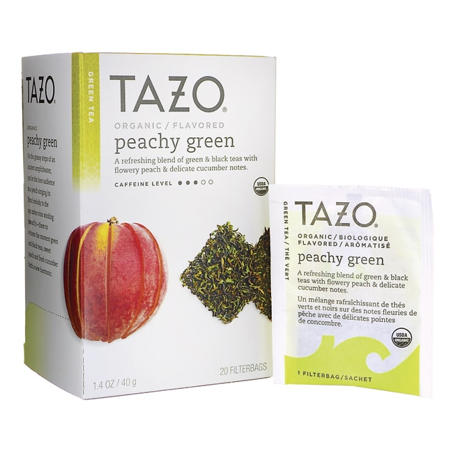 Tazo TeaGreen Tea - Organic Peachy Green
