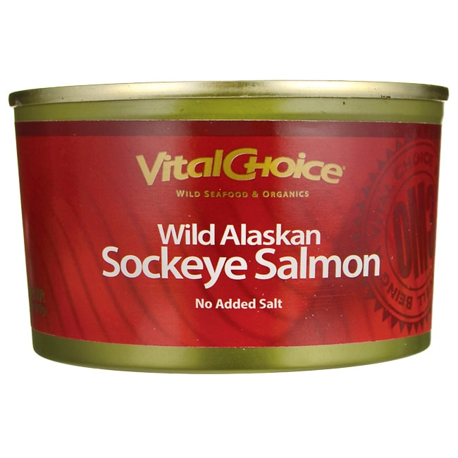 Vital ChoiceWild Red Alaskan Sockeye Salmon No Salt Added
