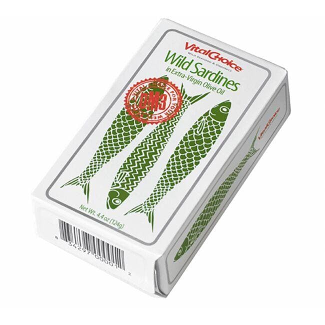 Vital Choice Wild Sardines in Extra-Virgin Olive Oil