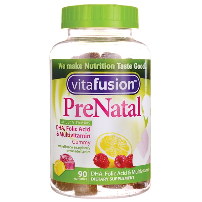 VitafusionPreNatal DHA & Folic Acid Gummy Vitamins Berry Lemon Cherry