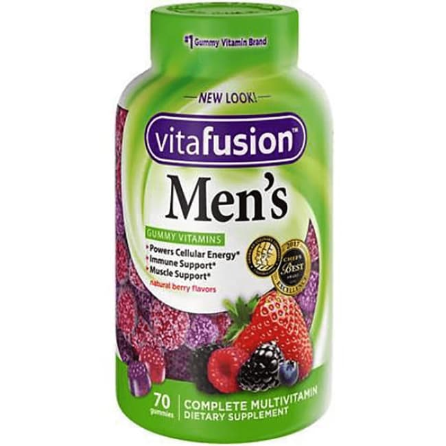 Vitafusion Men's Complete Multivitamin Gummy - Natural FruitFlavors