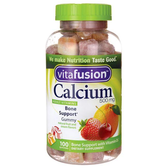 Vitafusion Calcium Adult Vitamins - Natural Fruit and Cream Flavors