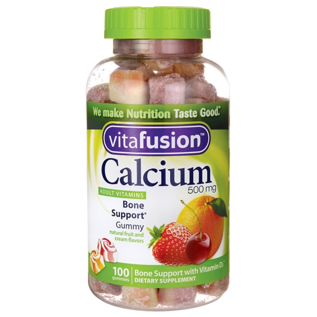 VitafusionCalcium Adult Vitamins - Natural Fruit and Cream Flavors