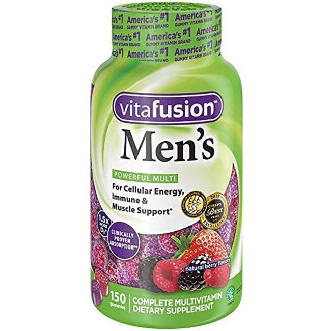 Vitafusion Men's Powerful Multi - Natural Berry 150 Gummies Multivitamins