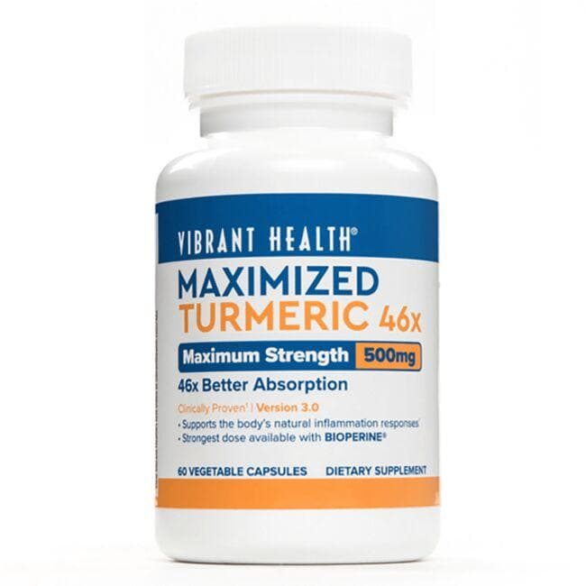 Vibrant Health Maximized Turmeric 46x - Maxiumum Strength 500 mg 60 Veg Caps Liver Health