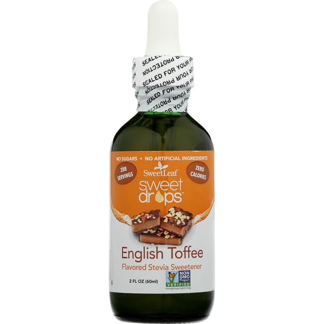 Wisdom NaturalSweetLeaf Sweet Drops English Toffee Liquid Stevia