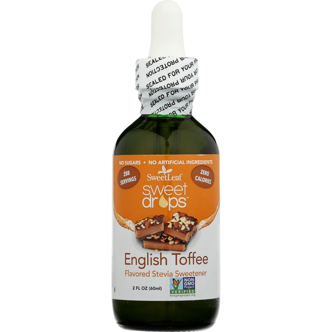 Wisdom NaturalSweetLeaf Sweet Drops English Toffee Liquid Stevia