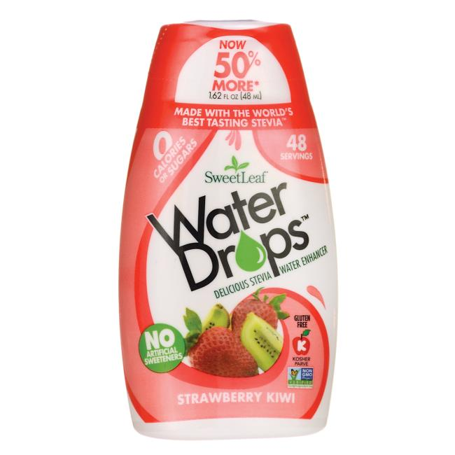 Wisdom NaturalSweetLeaf Water Drops Water Enhancer - Strawberry  Kiwi
