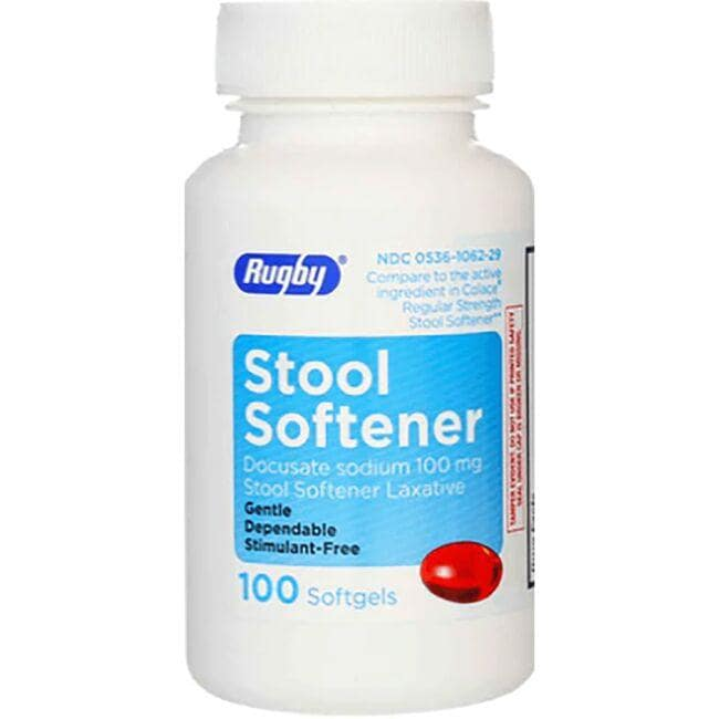 Rugby Stool Softener Docusate Sodium