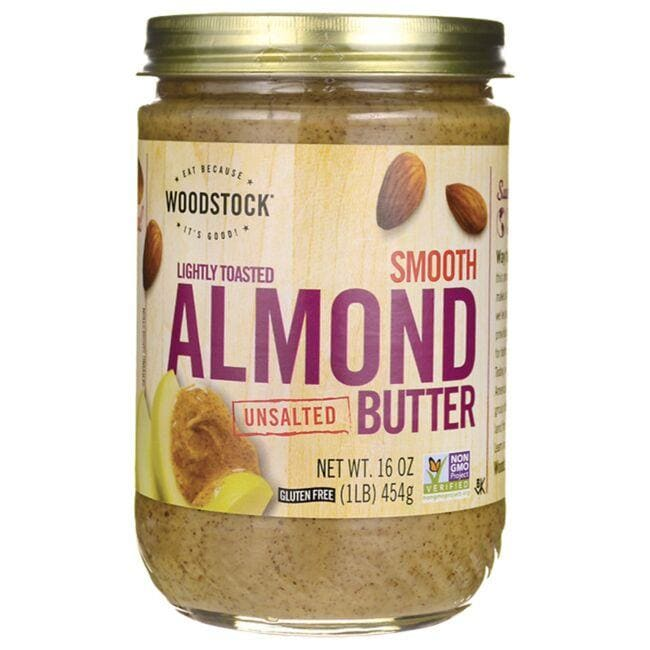 Woodstock Foods Lightly Toasted Smooth Unsalted Almond Butter