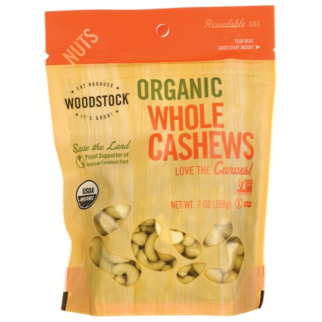 Woodstock FoodsOrganic Whole Cashews