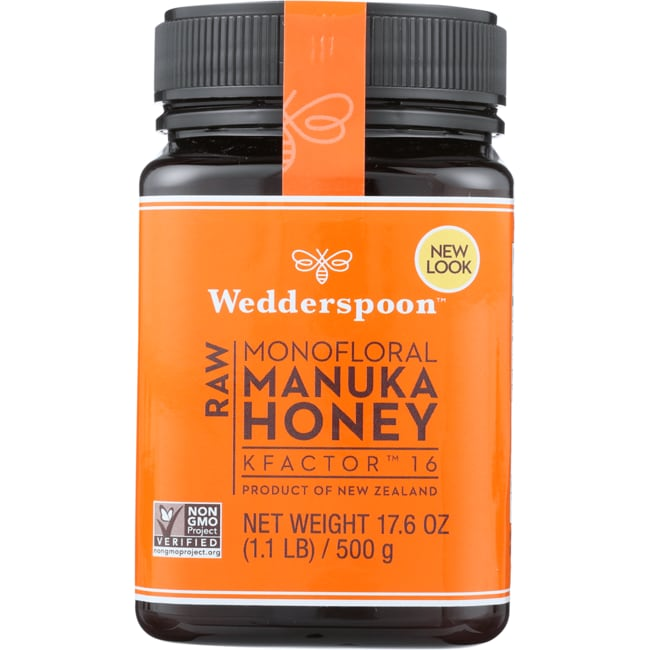 Wedderspoon100% Raw Manuka Honey KFactor 16