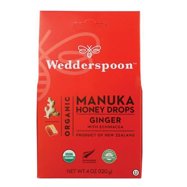 WedderspoonOrganic Manuka Honey Drops - Ginger with Echinacea