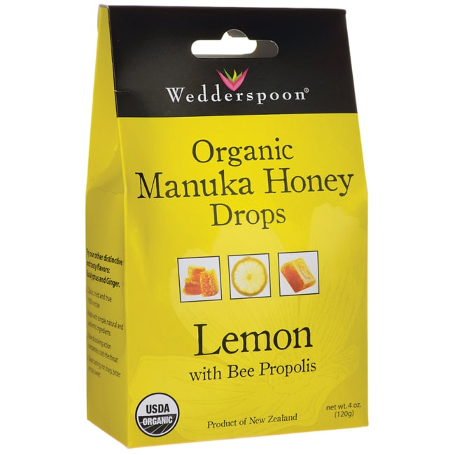 WedderspoonOrganic Manuka Honey Drops - Lemon with Bee Propolis