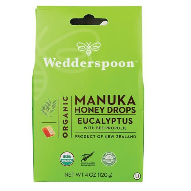WedderspoonOrganic Manuka Honey Drops - Eucalyptus w/ Bee Propolis
