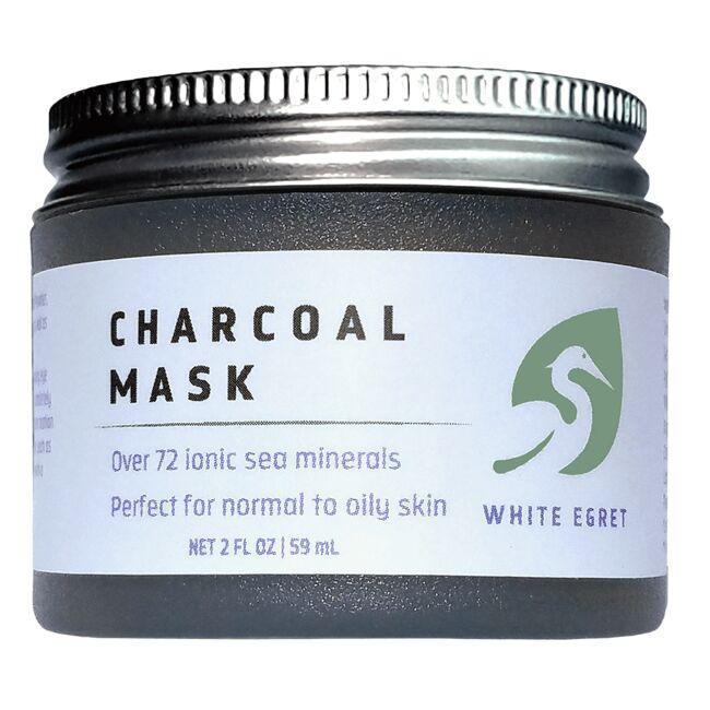White EgretCharcoal Mask