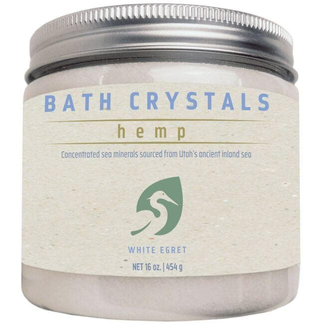 White Egret Hemp Bath Crystals