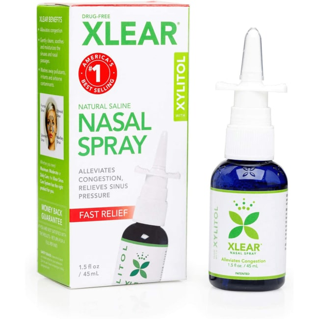 XLEAR Nasal Spray, 1.5 Fl Oz, All-Natural Saline and Xylitol