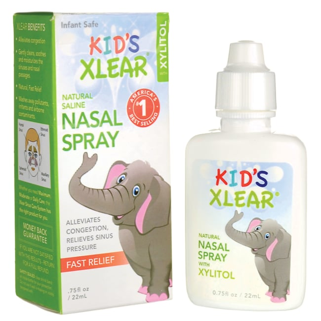 XlearKid's Saline Nasal Spray with Xylitol