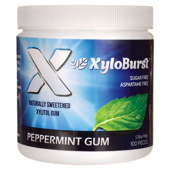 XyloBurstXylitol Chewing Gum - Peppermint