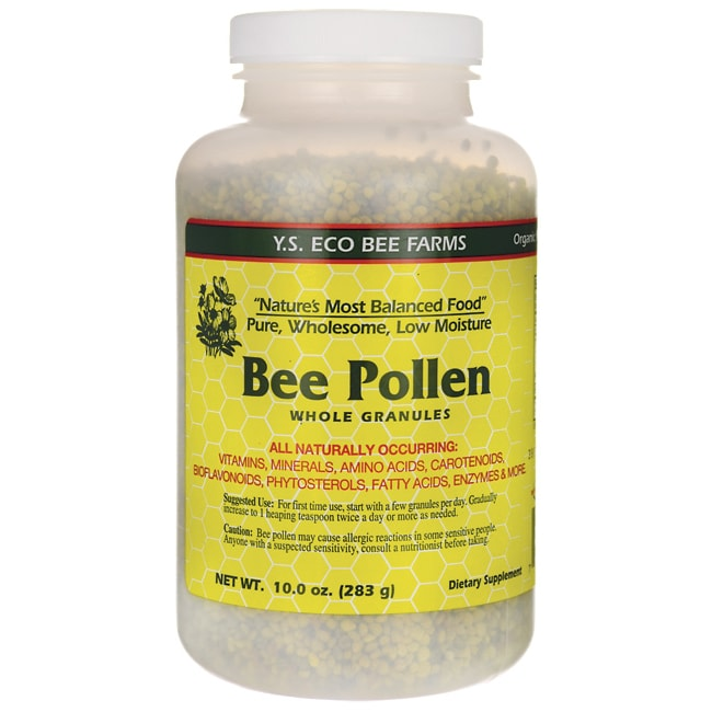 Y.S. Eco Bee FarmLow Moisture Bee Pollen Whole Granules