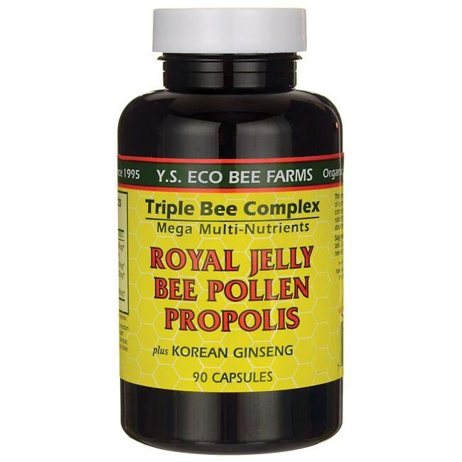 Y.S. Eco Bee Farms Triple Bee Complex Plus Korean Ginseng