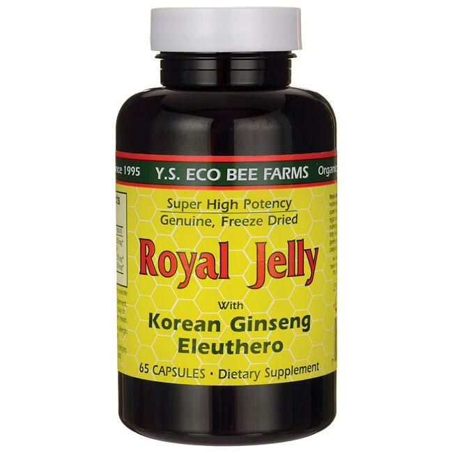 Y.S. Eco Bee Farms Royal Jelly with Korean Ginseng and Eleuthero