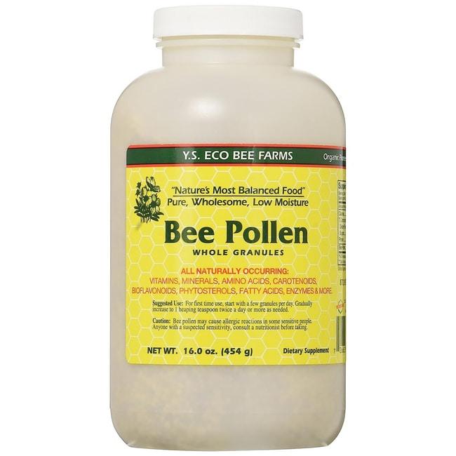 Y.S. Eco Bee Farm Low Moisture Bee Pollen Whole Granules