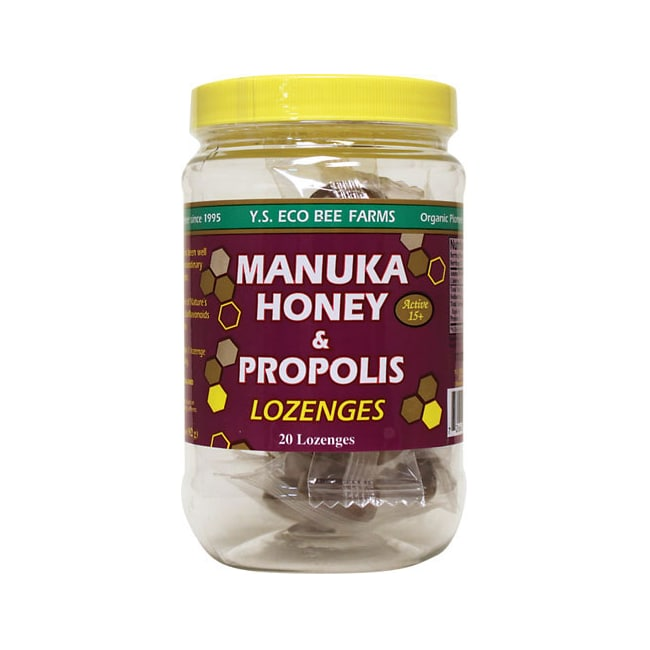 Y.S. Eco Bee FarmsManuka Honey & Propolis Active 15+ Lozenges