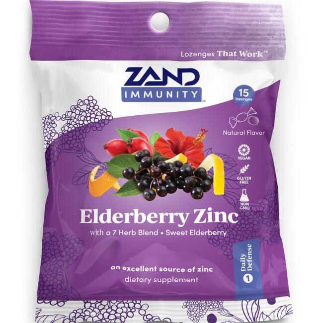 ZandHerbaLozenge Elderberry Zinc - Sweet Elderberry