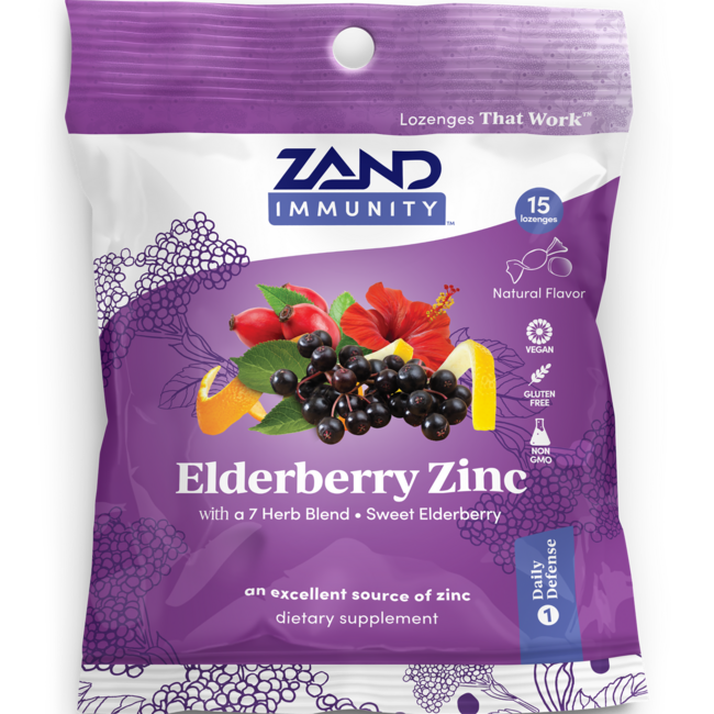 ZandHerbaLozenge Elderberry Zinc - Sweet Elderberry