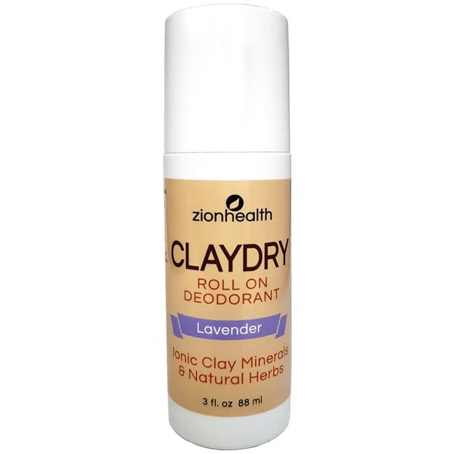 Zion HealthClayDry Natural Deodorant Roll-On