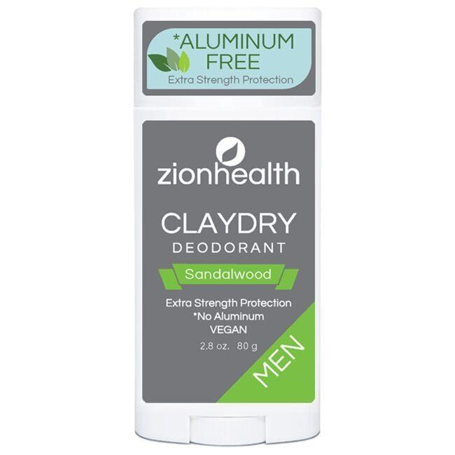 Zion HealthClayDry Deodorant - Sandalwood Men